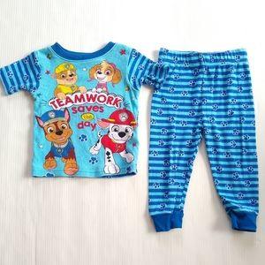 PAW PATROL Nickelodeon blue pajamas 2t